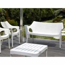 OLIMPO SOFA - Set aus zwei Sofas mit Kissen Stapelbares SCAB DESIGN mit Polypropylenverstärkung