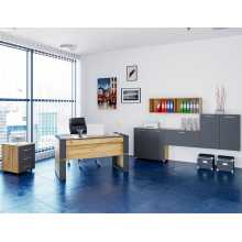 Ufficio Business 1 - Komplette Büromöbel aus melaminharzbeschichtetem Holz für Heim, Studio, Schule und Hotel