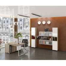 Business Office 2 - Komplette Büromöbel aus melaminharzbeschichtetem Holz für Heim, Studio, Schule und Hotel