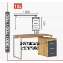 Business B - Mobiler Schreibtisch aus Melamin und Metall für Büro, Schule, Hotel, Hotelgeschäft