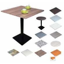 MARTE QV-VS 42 - Werzalit-Tisch mit Eisenbein (Gusseisen) für ein Bar-Restaurant im Freien