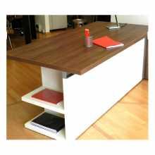 ELEGANCE - Schreibtisch contract Büro aus verhedeltem Holz für Büro, Studio, Hotel